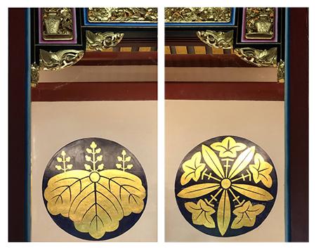 左:日本總持寺寺徽 / 右:日本永平寺寺徽